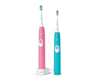 Tīrāki zobi. Saudzīga tīrīšana.