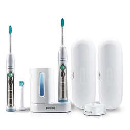 Sonicare FlexCare+ Twee sonische, elektrische tandenborstels