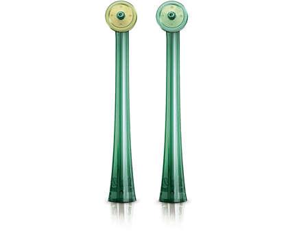 Não usa fio dentário? Use a AirFloss para limpeza total.