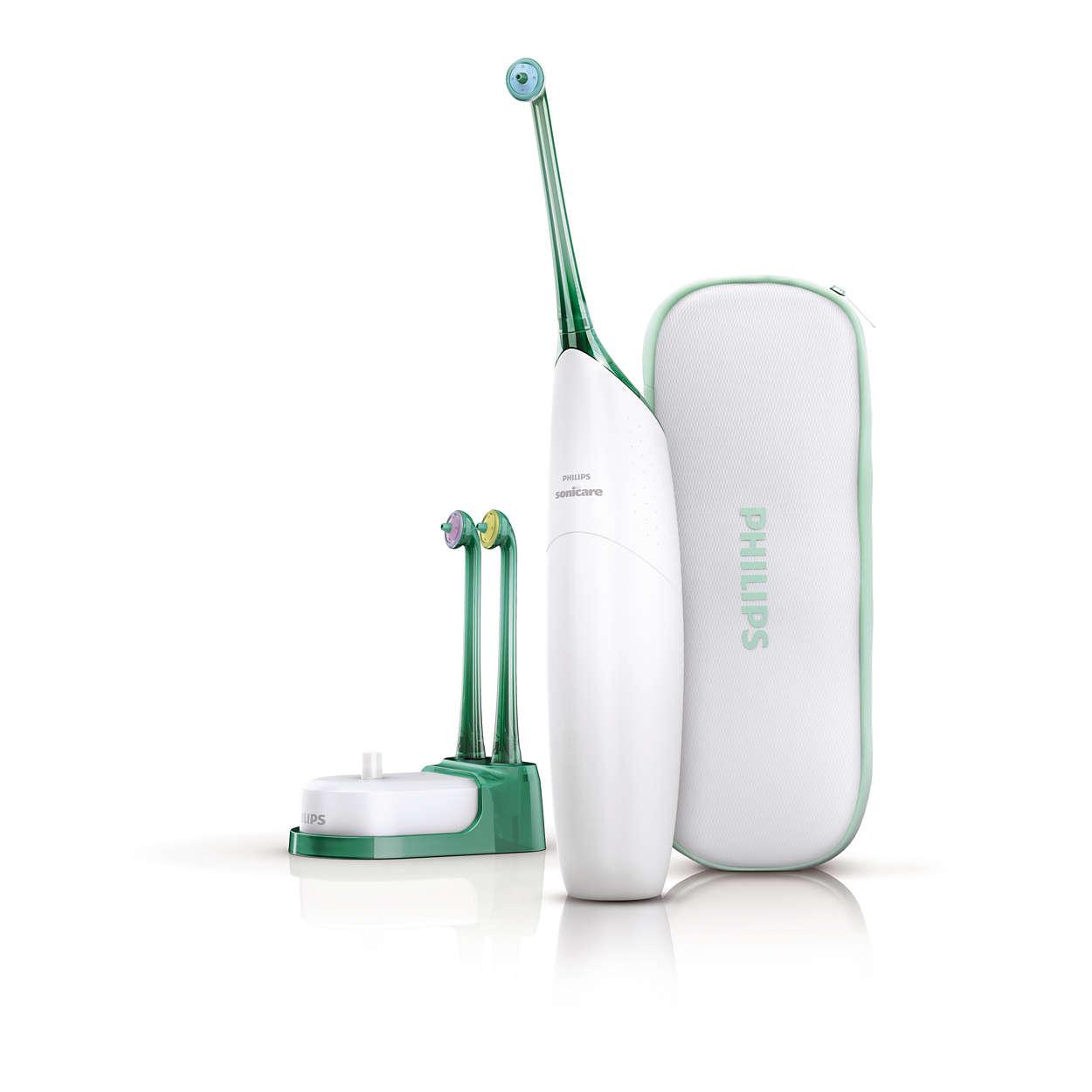 試試 AirFloss 空氣動能牙線機。