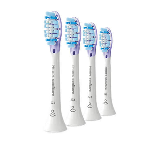 4-pack Standard sonic toothbrush heads