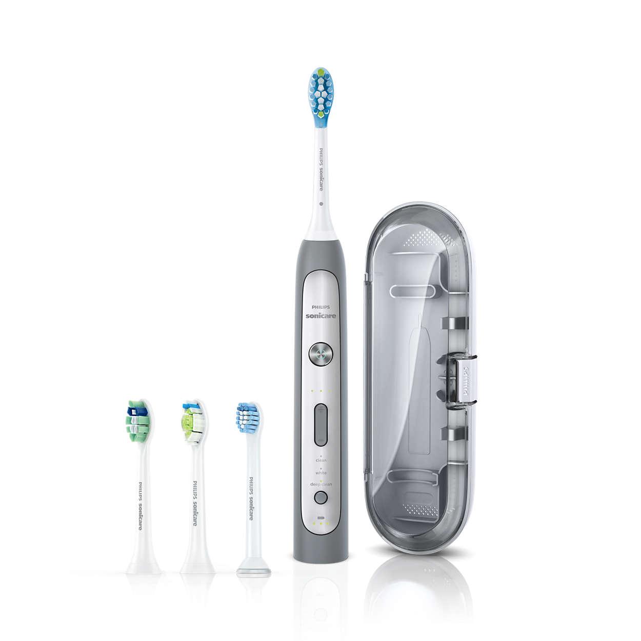 歯周病の原因菌を含む歯垢を手磨きの10倍除去*