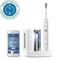 Szónikus elektromos fogkefe alkalmazással