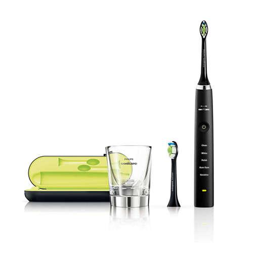 Sonicare DiamondClean Sonický elektrický zubní kartáček, nabíjecí sklenicí