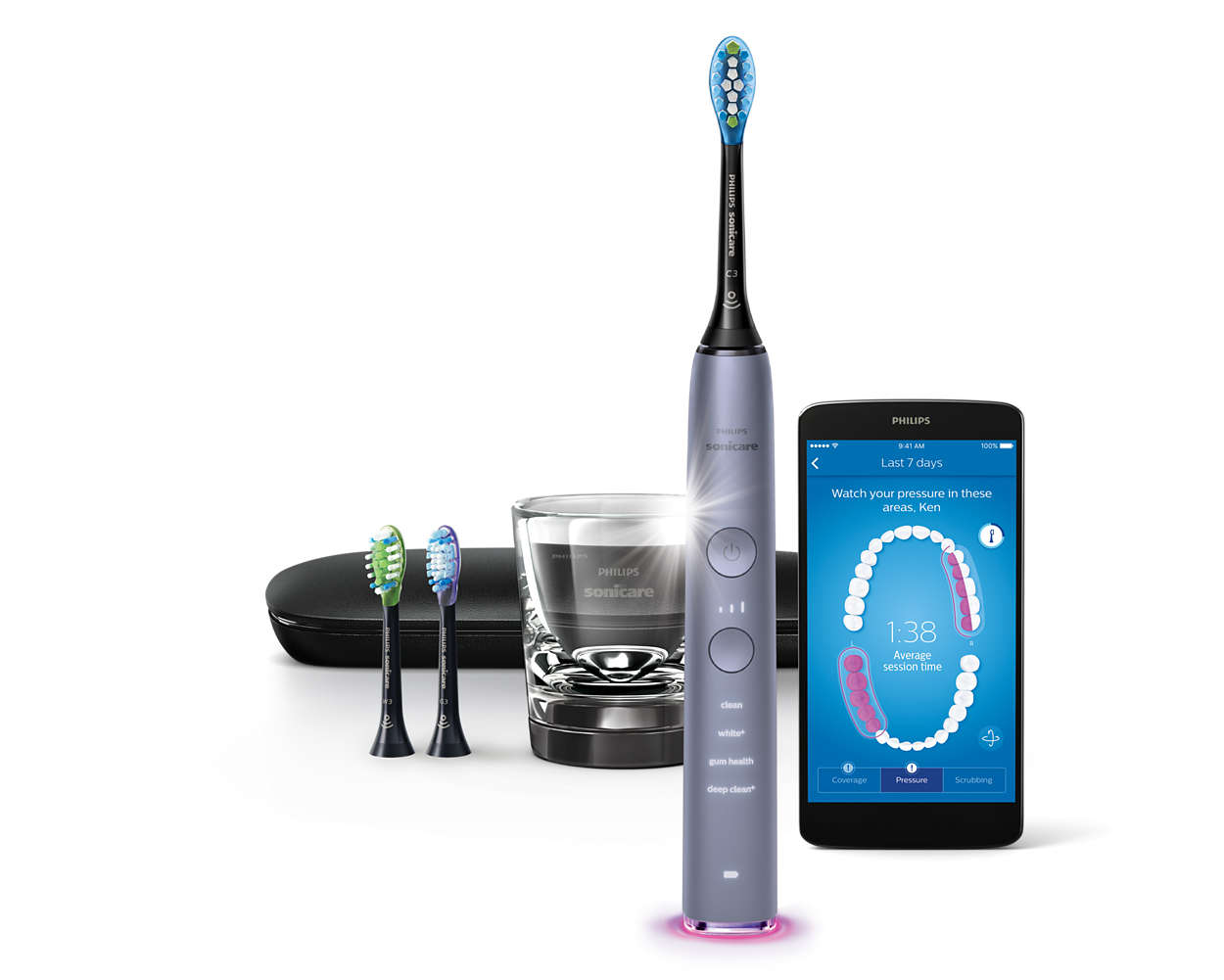 diamondclean smart sonic electric toothbrush with app. Black Bedroom Furniture Sets. Home Design Ideas