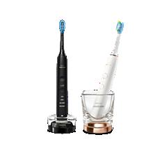 HX9914/57 DiamondClean 9000 Escova de dentes elétrica com app