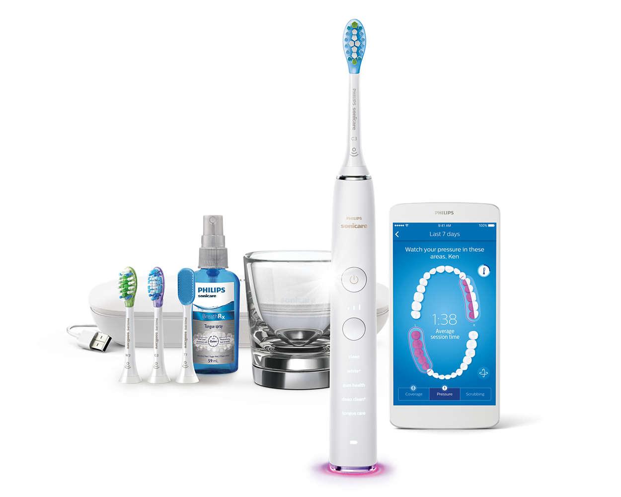 Kaikkien aikojen paras hammasharjamme. Puhdistaa koko suun.