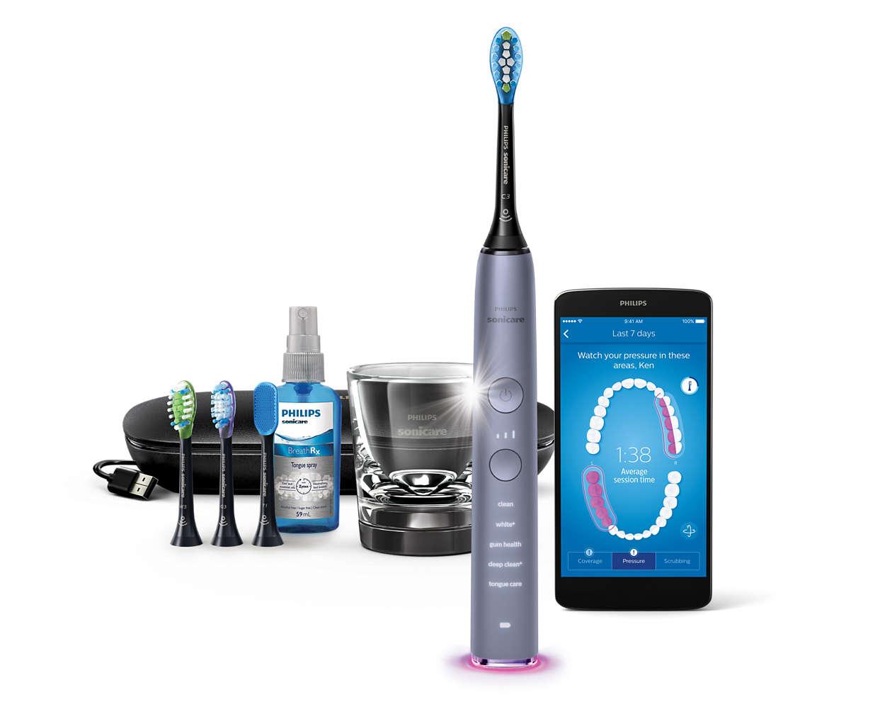Vores bedste tandbørste nogensinde. Gør rent i hele din mund.