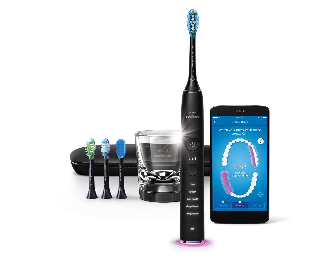 diamondclean smart brosse dents sonique lectrique avec. Black Bedroom Furniture Sets. Home Design Ideas