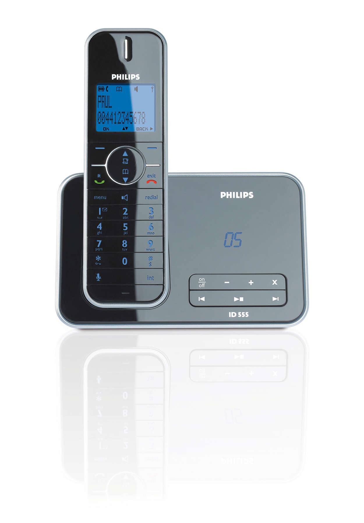 Design collection telefono cordless con segreteria id5551b - Telefoni cordless design ...