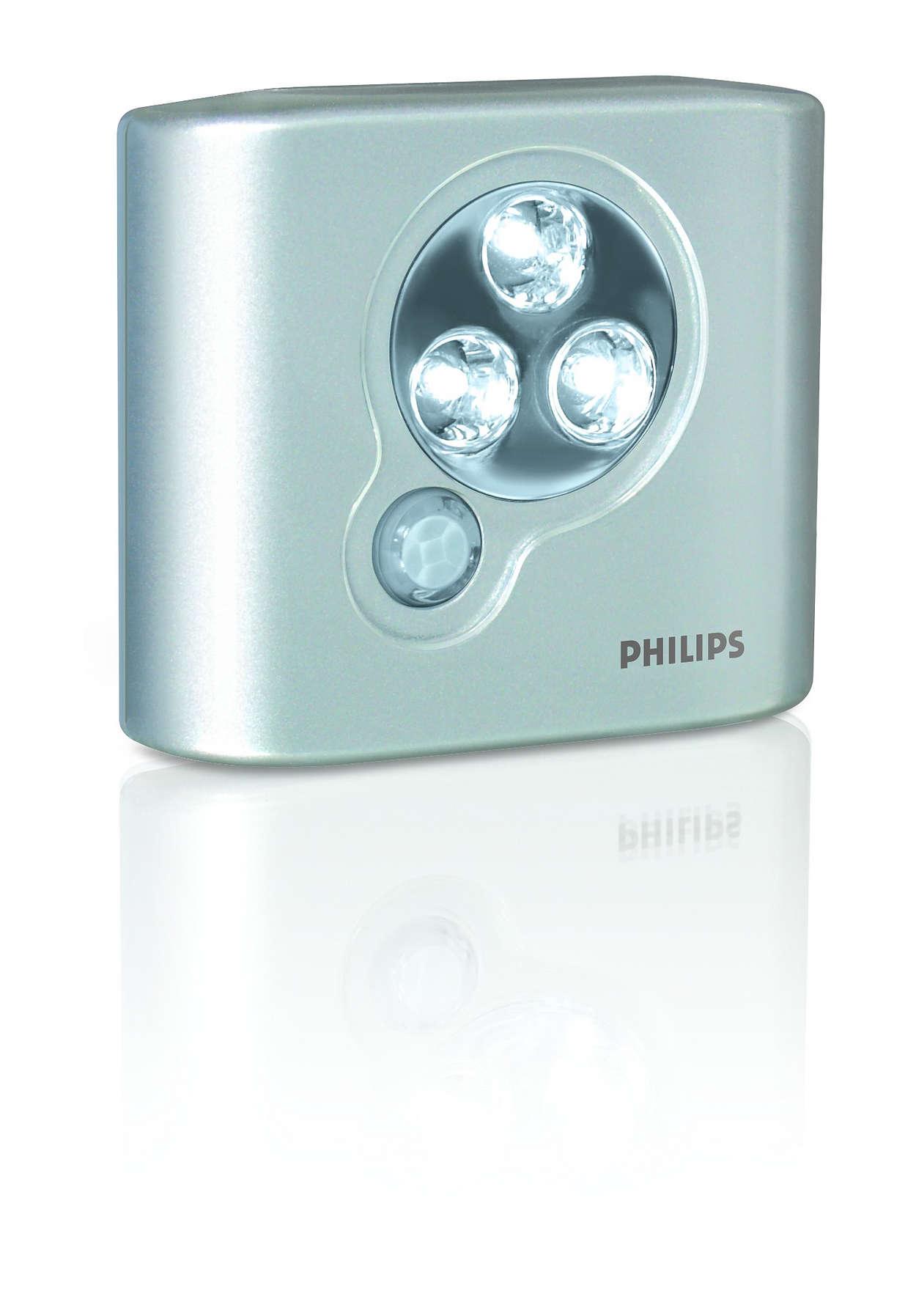 luminaire led piles lac51awsb 10 philips. Black Bedroom Furniture Sets. Home Design Ideas