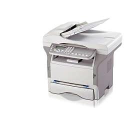 Laserfaksi, jossa on tulostin ja skanneri