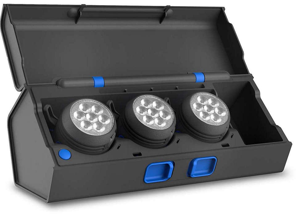 正確なカラーチェックが可能なプロフェッショナル向け LED ライト