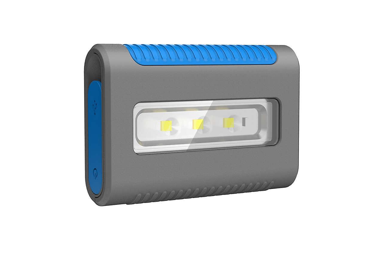 ヘッドライト用途も可能なカードサイズ型 LED ライト
