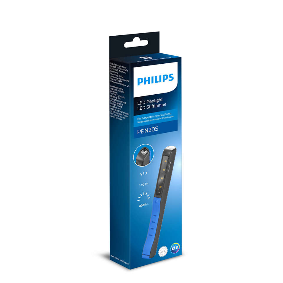 Högkvalitativ LUXEON® LED-lampa, kompakt och laddningsbar