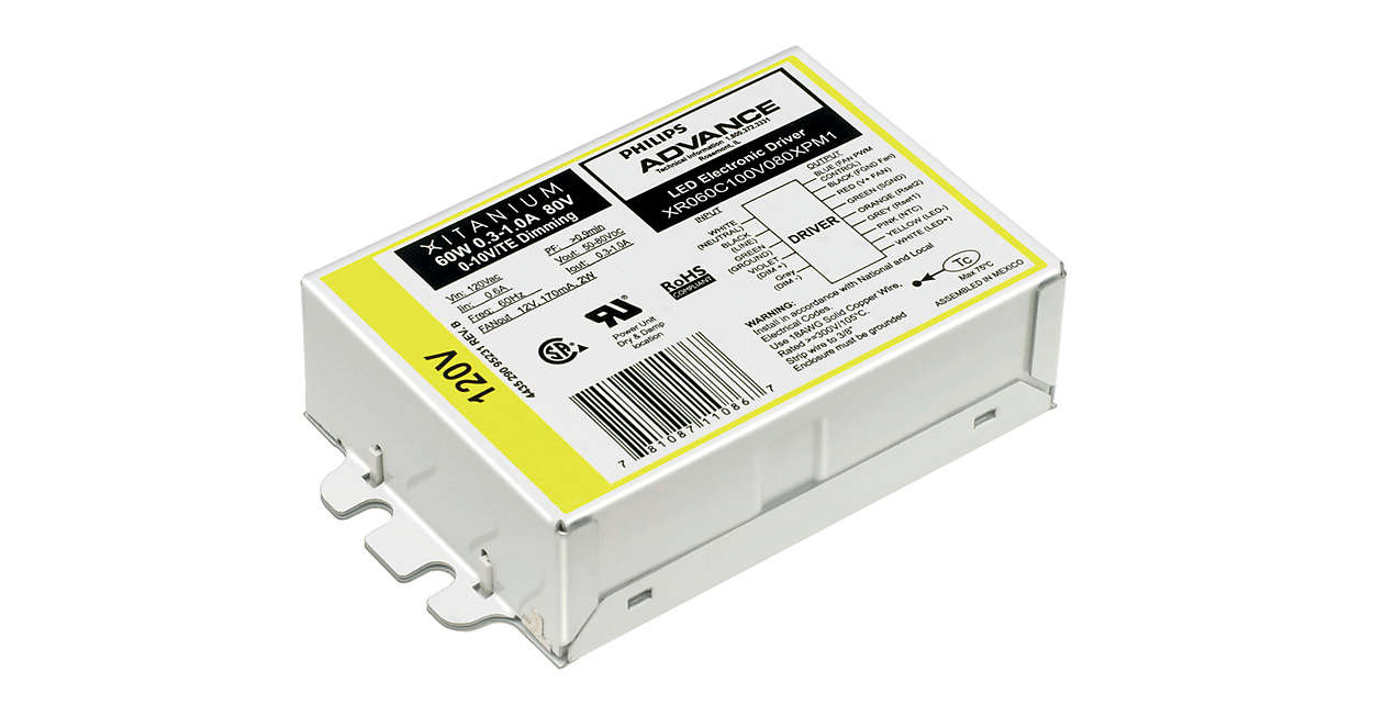 Xitanium LED Driver Indoor Linear Programmable (US)