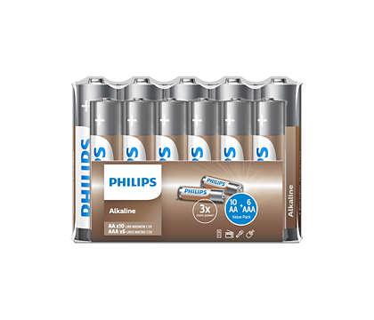 Dodejte zařízením energii sbateriemi Philips NRG!