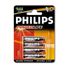 LR03PB4C/10 PowerLife Alkaliskt batteri