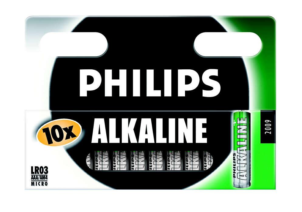 Vanlige alkaliske batterier