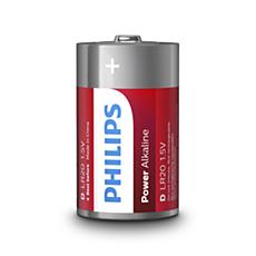 LR20P2B/10 -   Power Alkaline Batterij