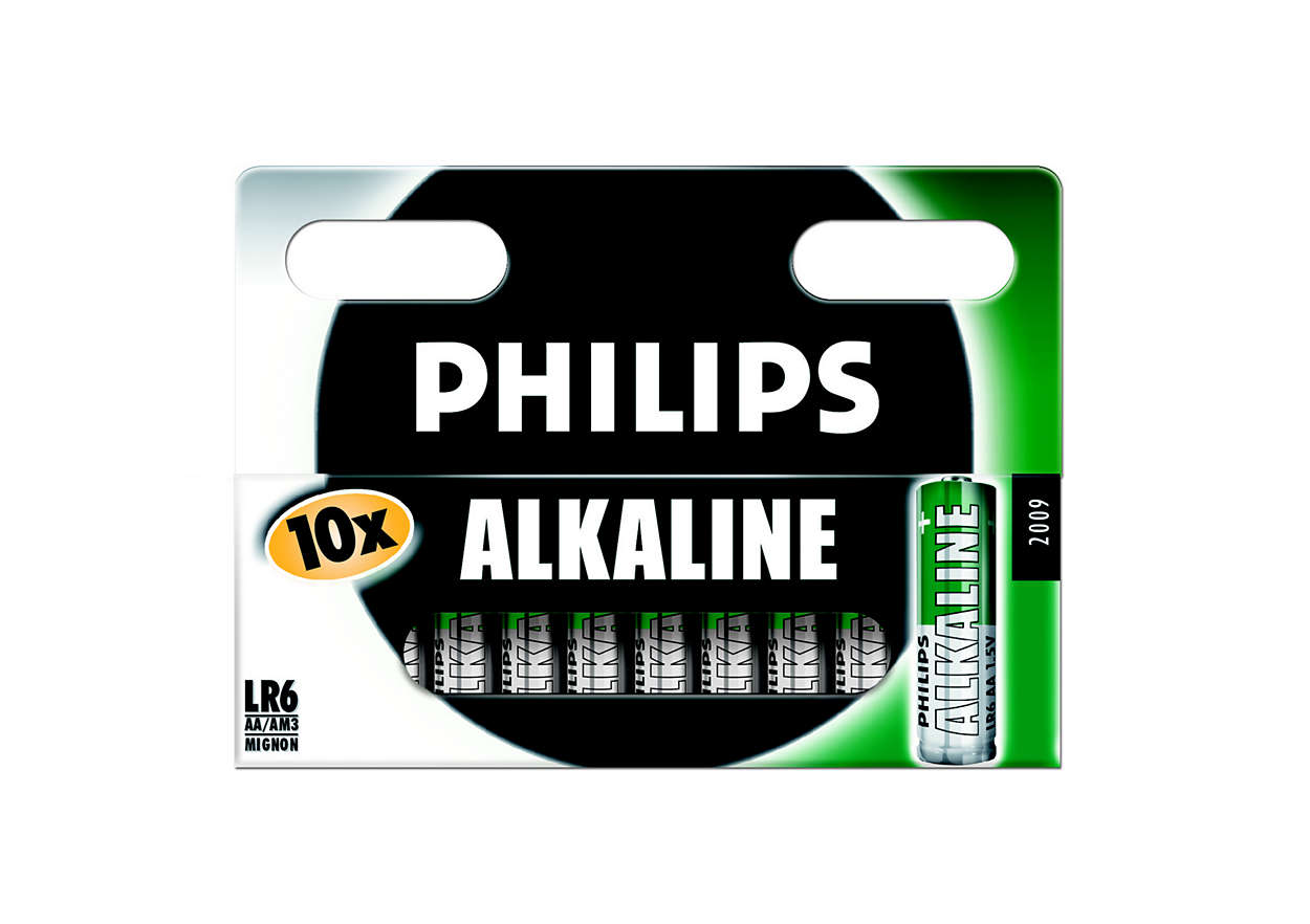 Klassiske alkaline-batterier