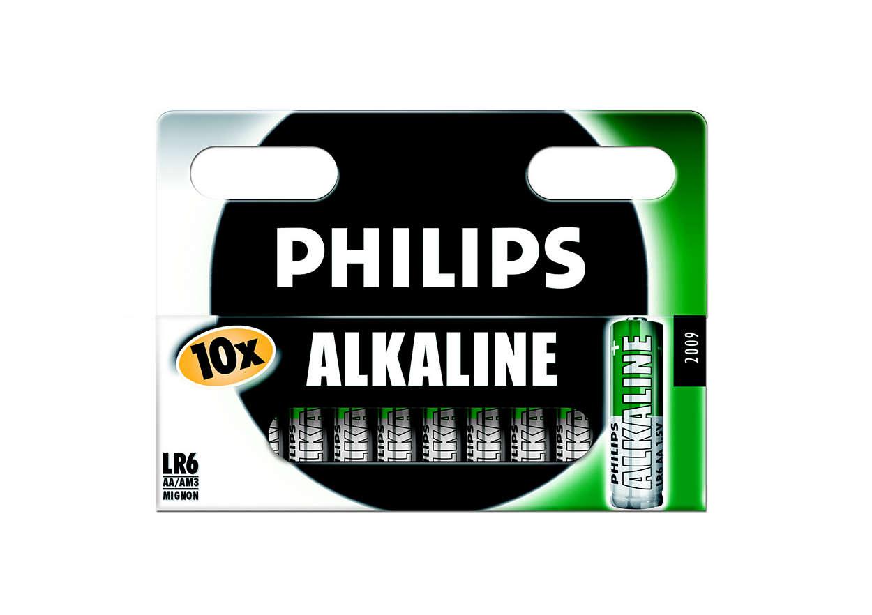 Klasické alkalické batérie