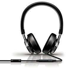M1/00 - Philips Fidelio  hoofdtelefoon voor op het oor met hoofdband