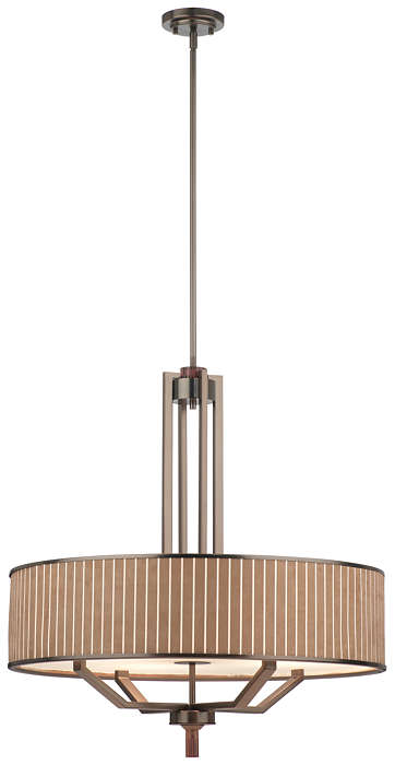 Haberdasher 4-light Pendant in Oiled Bronze finish