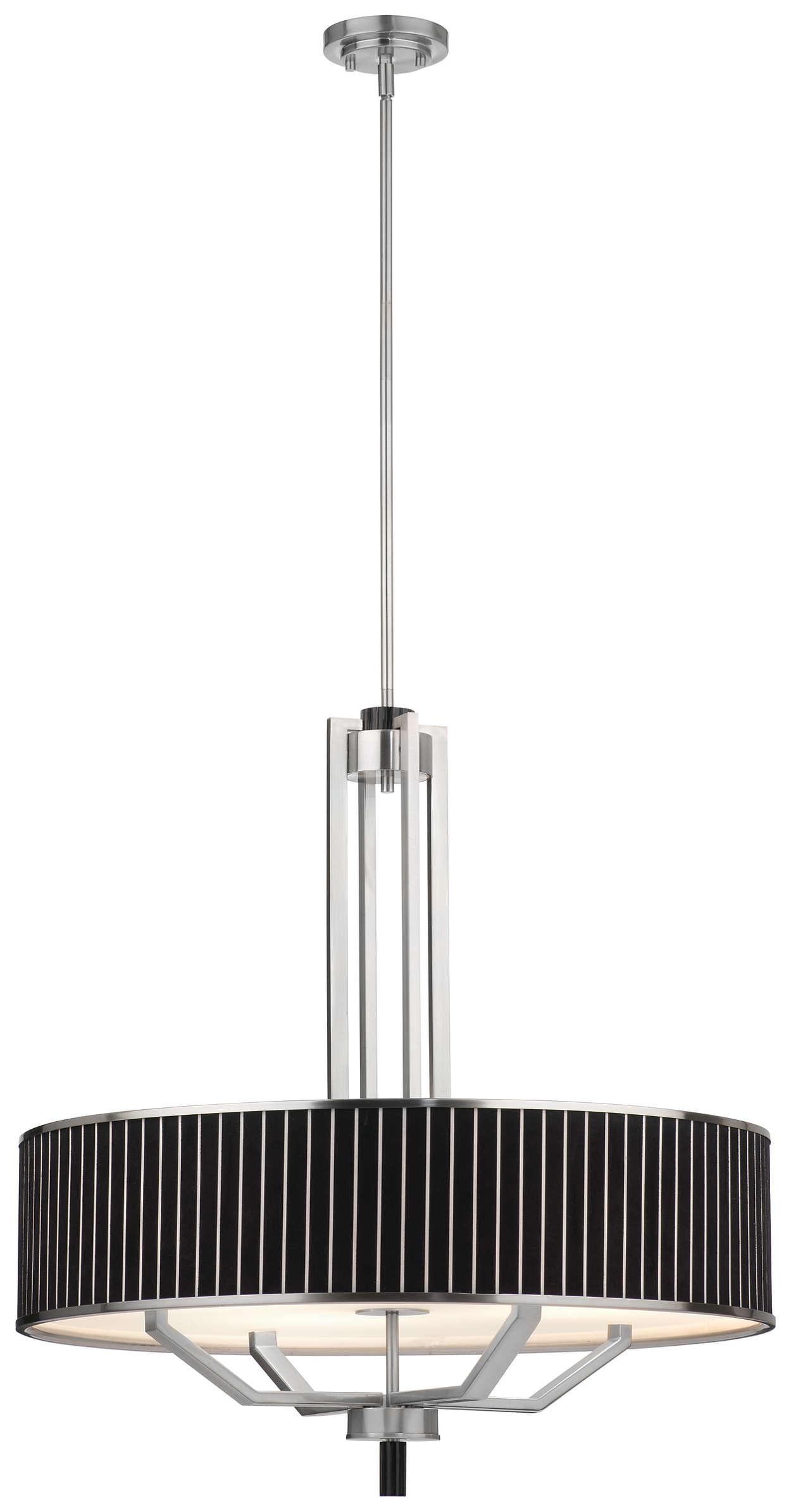 Haberdasher 4-light Pendant, Brushed Nickel finish