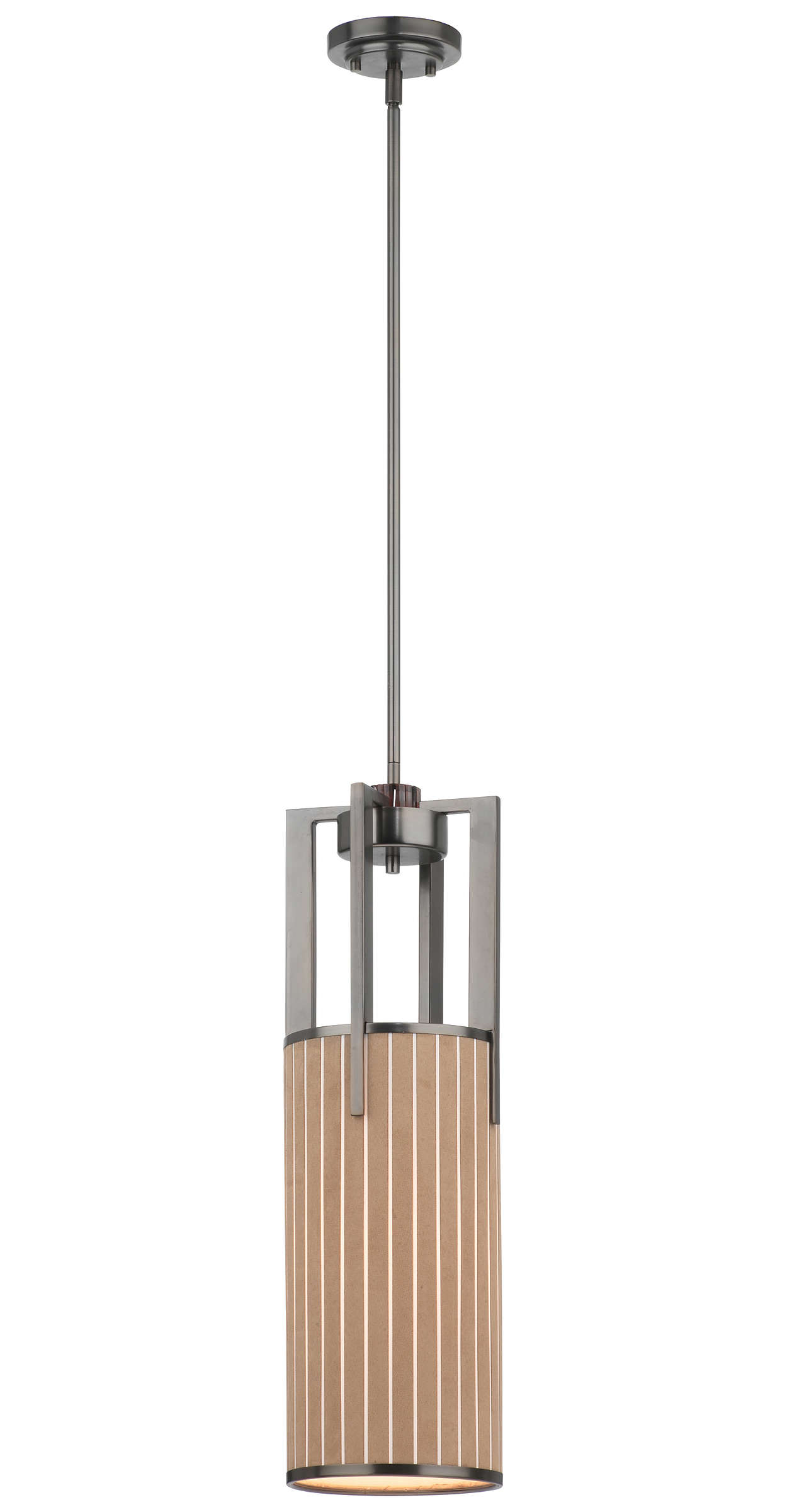 Haberdasher 1-light Pendant in Oiled Bronze finish
