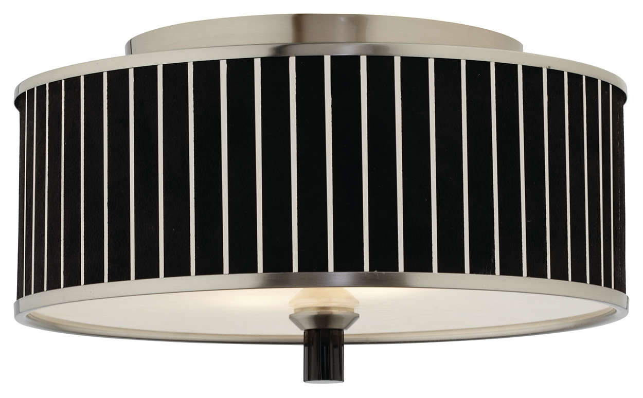 Haberdasher 2-light Ceiling, Brushed Nickel finish
