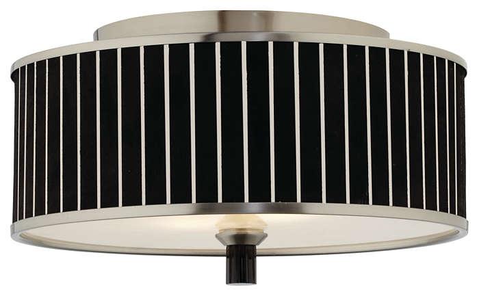 Haberdasher 2-light Ceiling, Brushed Nickel finish