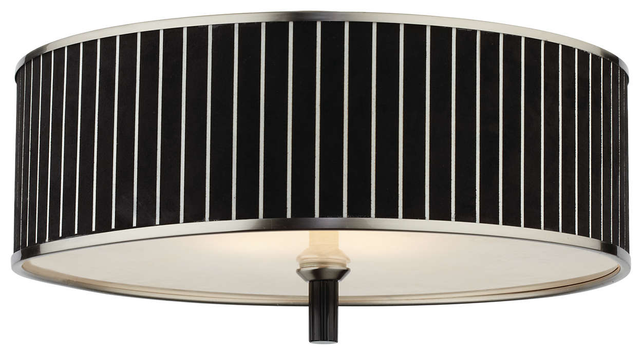 Haberdasher 3-light Ceiling, Brushed Nickel finish