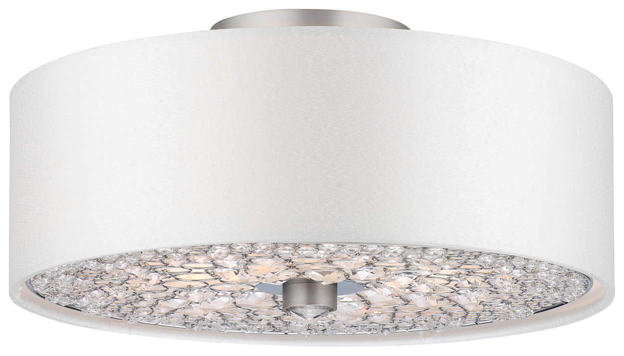 Pavo 3-light Ceiling in Brushed Nickel finish