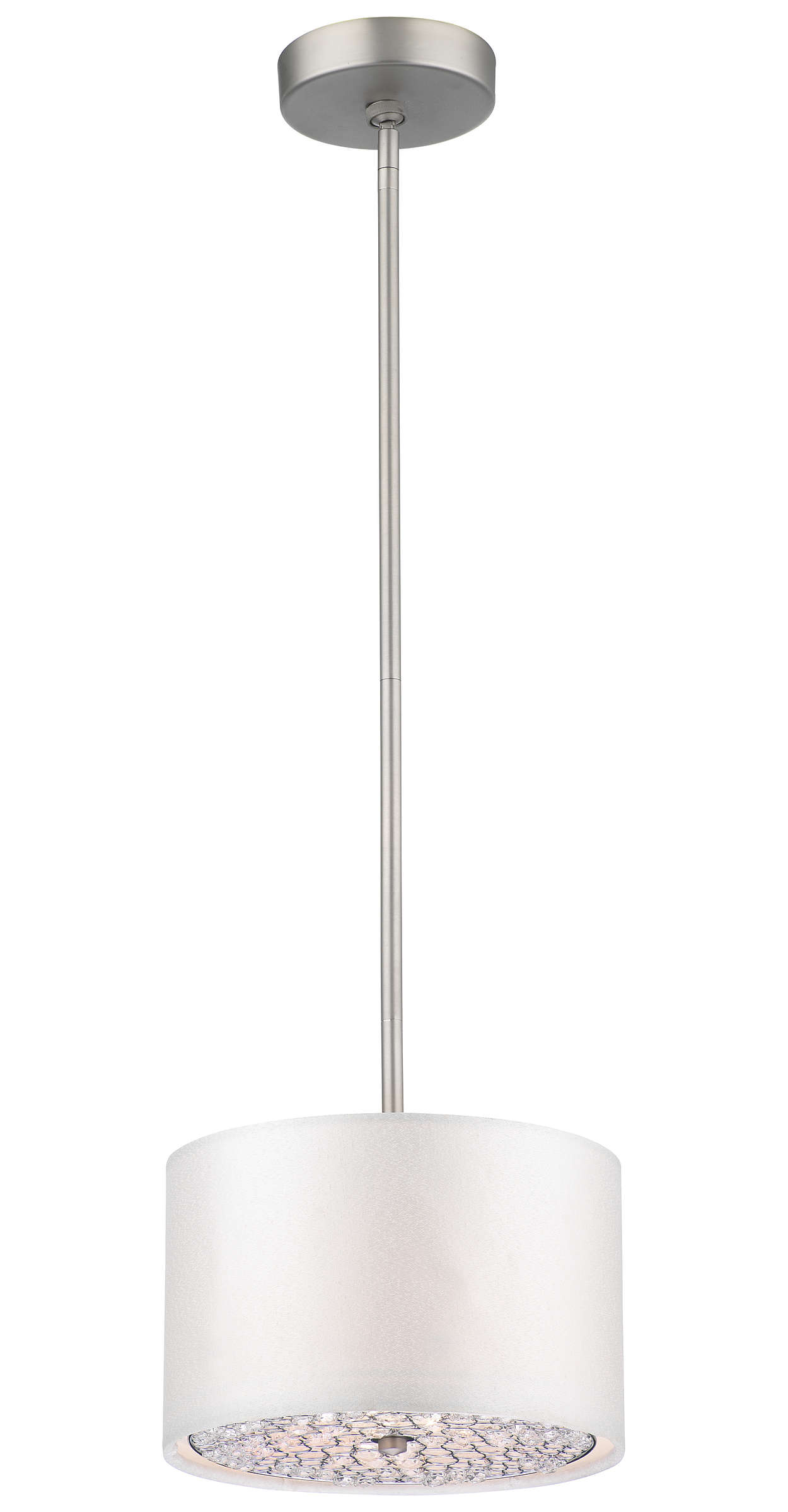 Pavo 1-light Pendant in Brushed Nickel finish