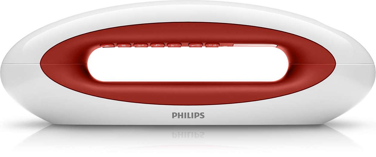 t l phone fixe sans fil design m5551wr 38 philips. Black Bedroom Furniture Sets. Home Design Ideas