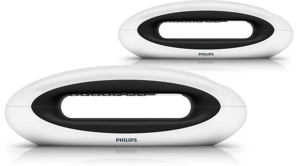 schnurloses design telefon m5552wg 38 philips. Black Bedroom Furniture Sets. Home Design Ideas