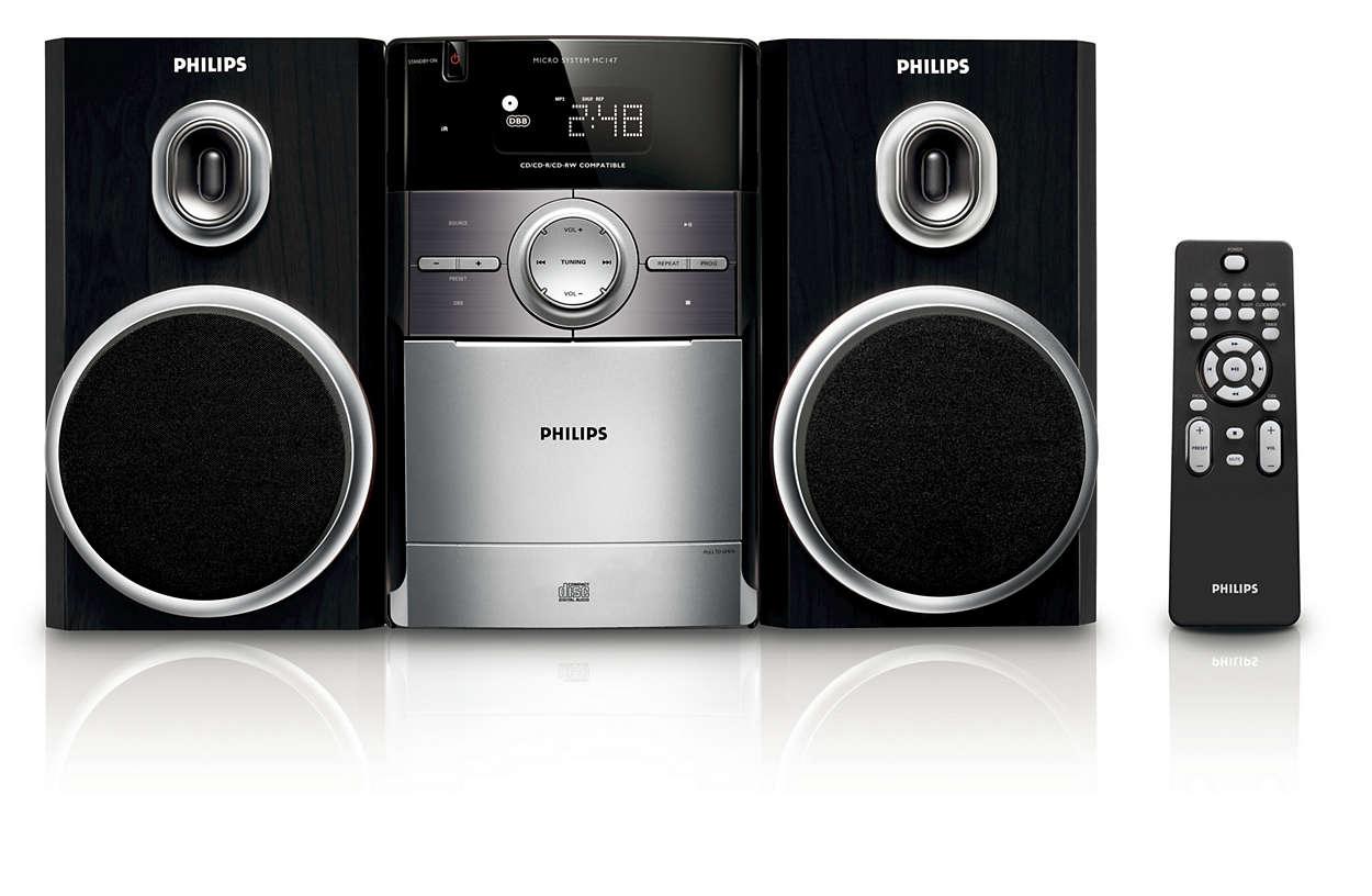 klassisches micro soundsystem mc147 12 philips. Black Bedroom Furniture Sets. Home Design Ideas
