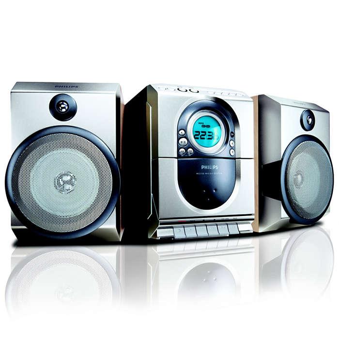 Audio eccellente in un design compatto