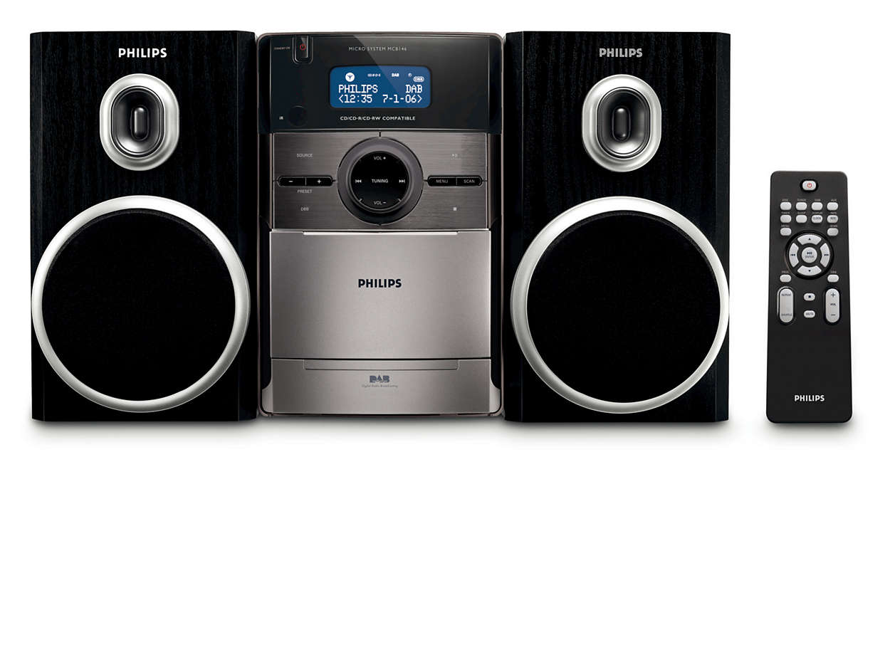 Enjoy crystal clear sound from DAB radio
