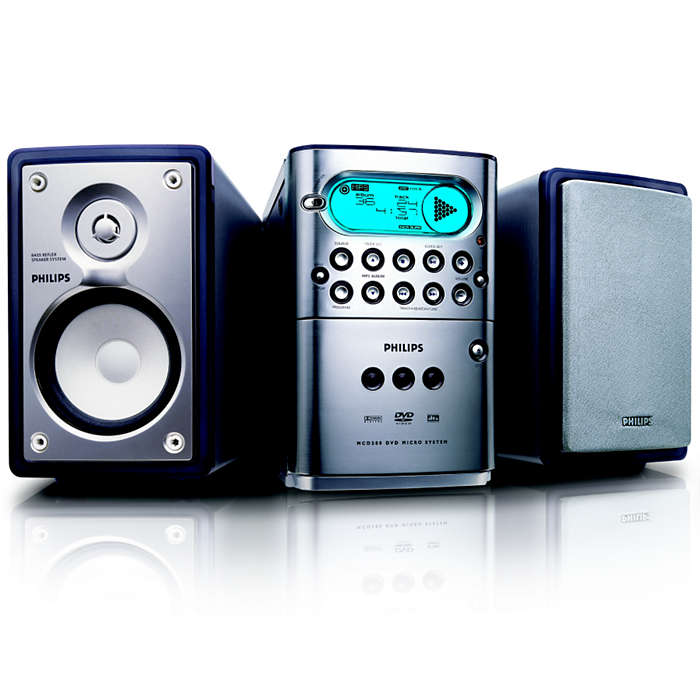 DVD, MP3-CD and WMA-CD playback