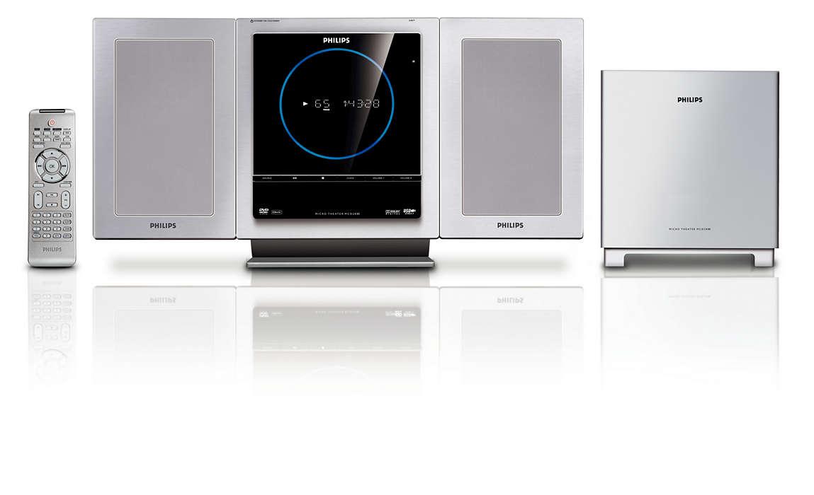 Itin plona namų kino sistema su HDMI1080i vaizdo įrašų pagerinimu