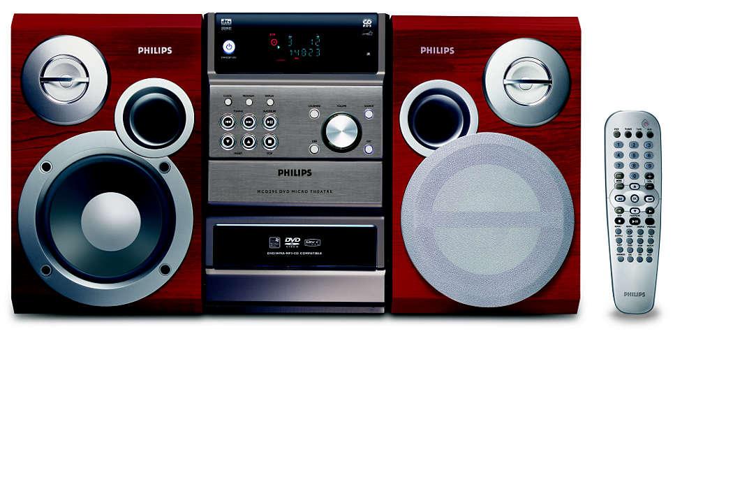 Reprodução de DVD, CD WMA e CD MP3
