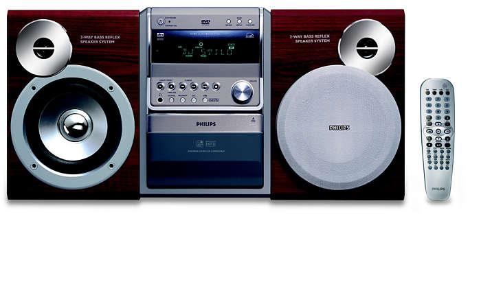 Reprodução de DVD e CDs de MP3 e WMA