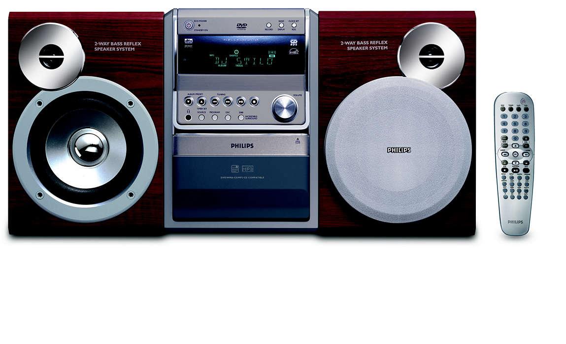 DVD-, MP3-CD- och WMA-CD-uppspelning