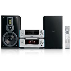 MCD909/12 Heritage Audio DVD-HiFi-systeem met componentontwerp