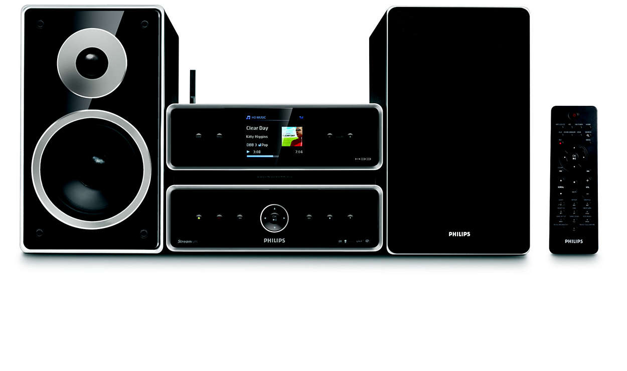 wireless hifi microsystem mci500h 12 philips. Black Bedroom Furniture Sets. Home Design Ideas