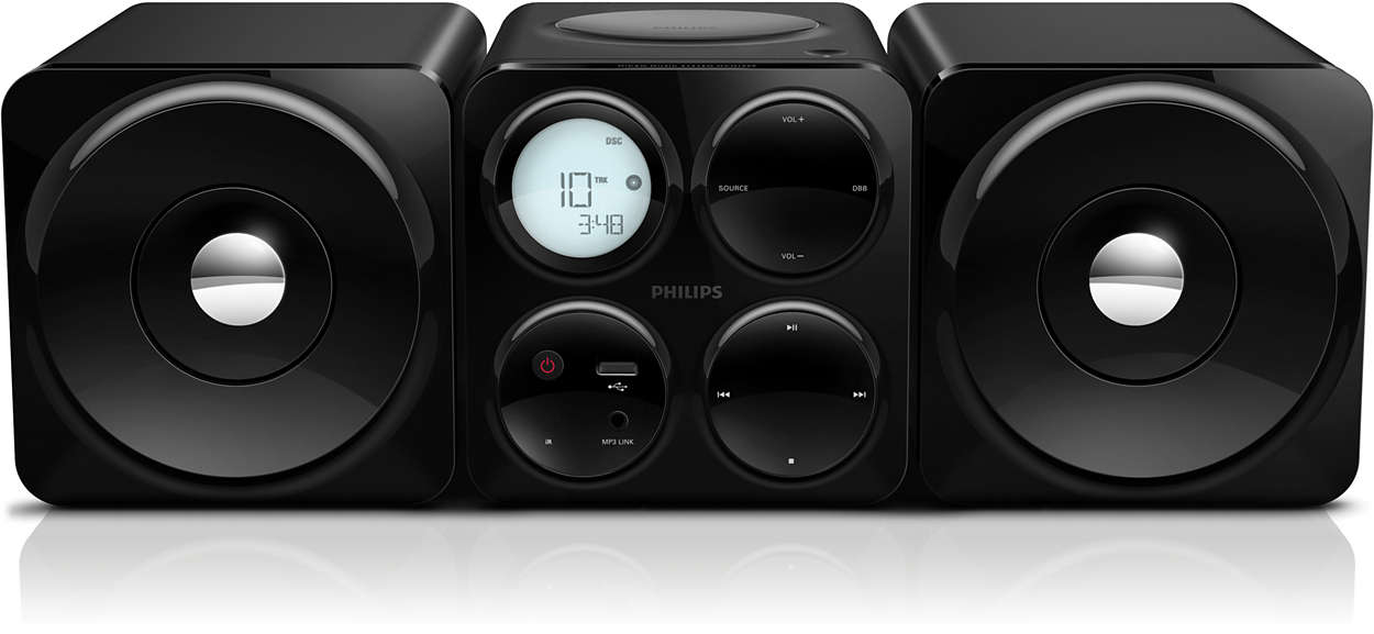 Cube Micro Sound System Mcm1055b 98 Philips
