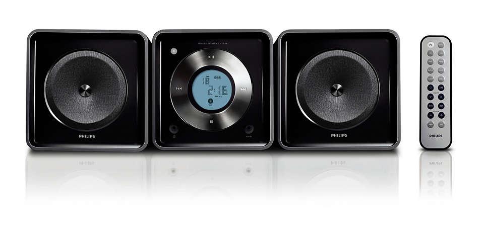 Audio-Kompaktsystem für Ihren Lifestyle.