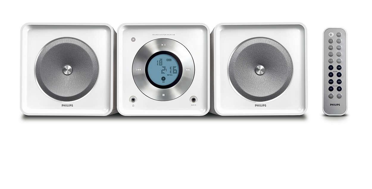 Sistema de áudio compacto para combinar com seu estilo de vida